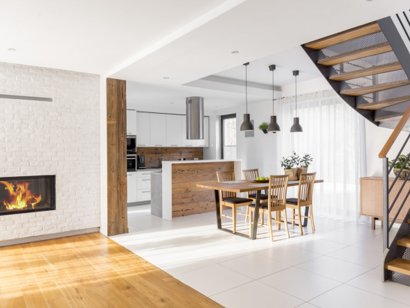 Modern luxury open plan apartment